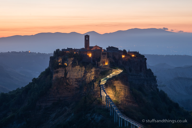 Civita di Bagnoregio at dawn