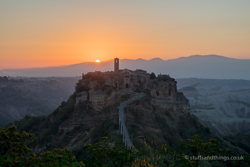 Sunrise at Civita di Bagnoregio