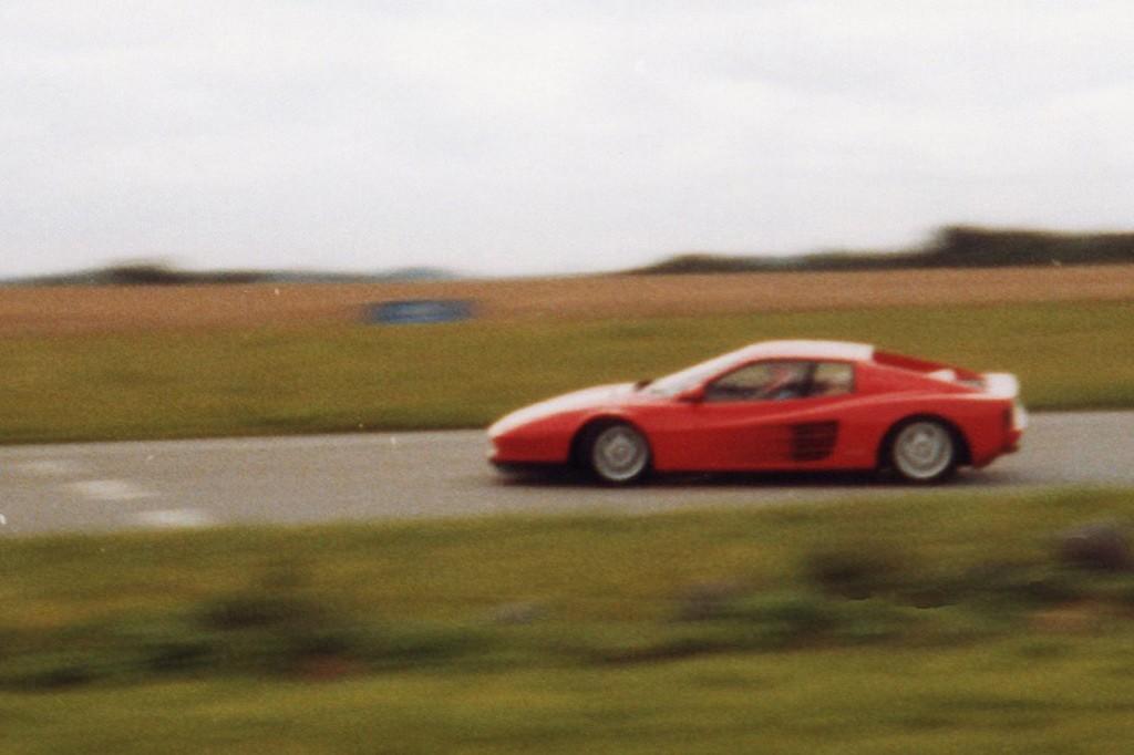 Sideways Ferrari Testarossa