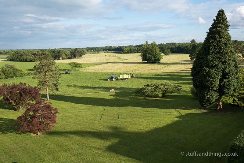 A view of the countryside from the suite