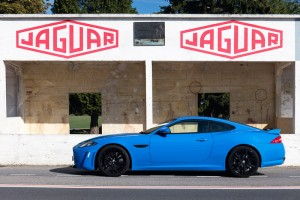 Jaguar XKR-S in Reims Pits