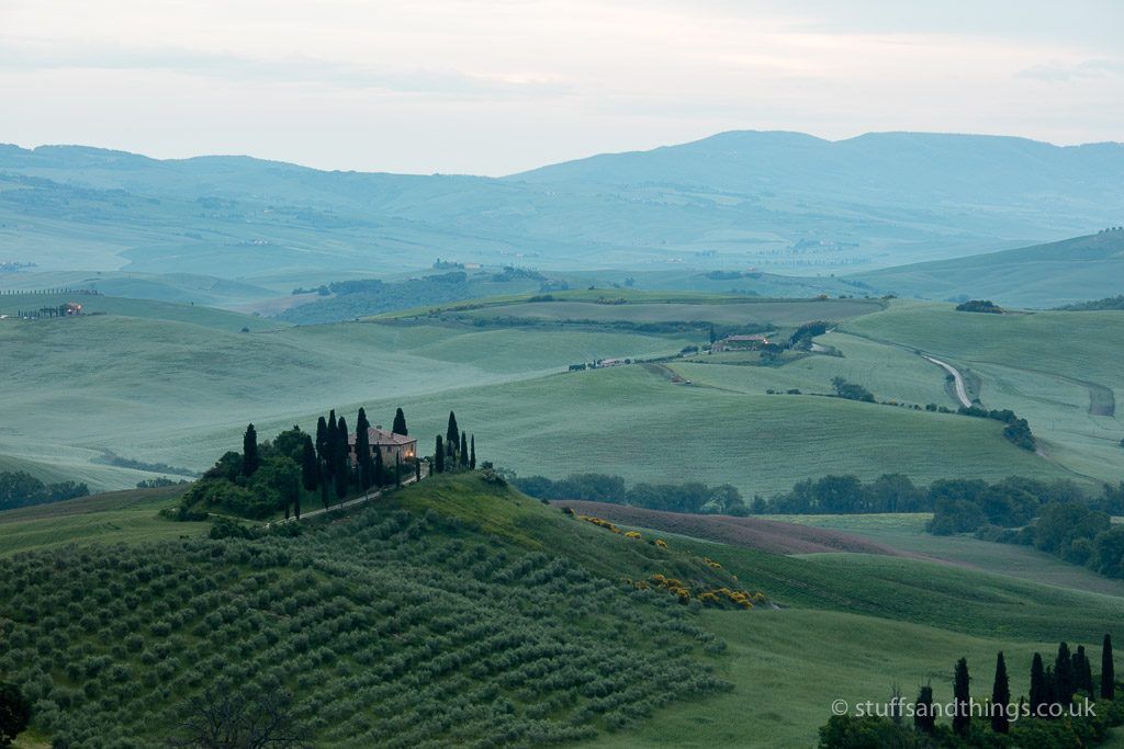 Disappointing Tuscany Sunrise over Podere Belvedere in the Val d'Orcia