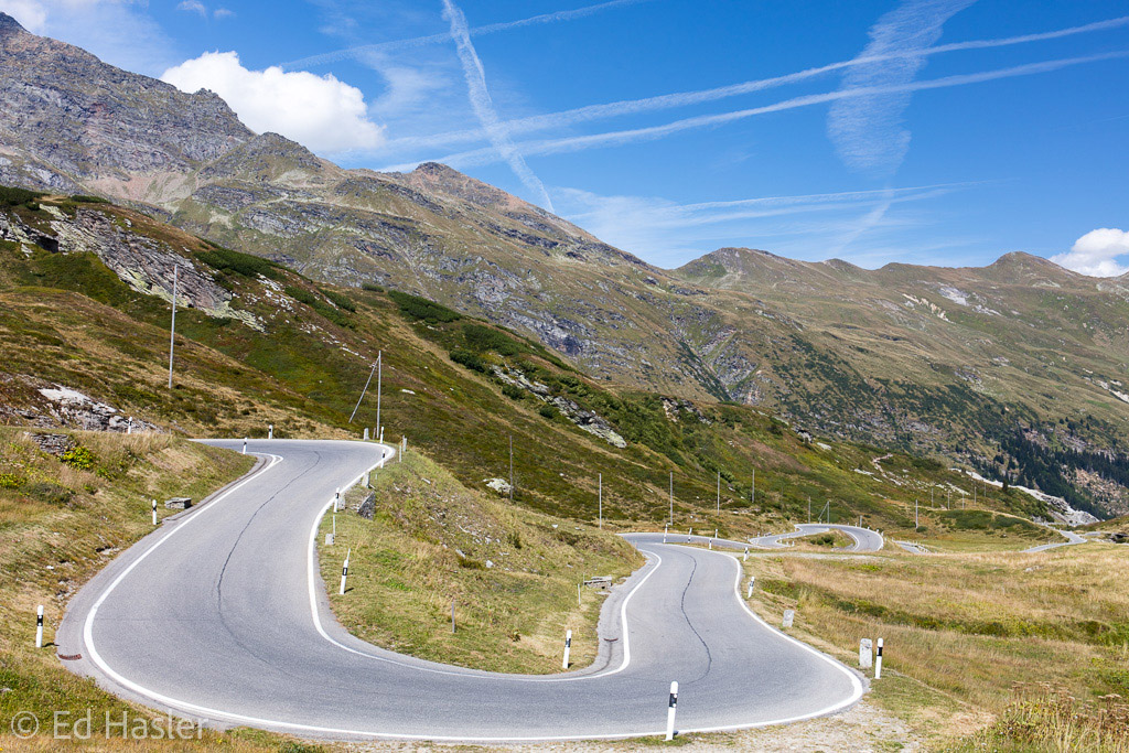 Hairpin bend on the San Bernardino Pass