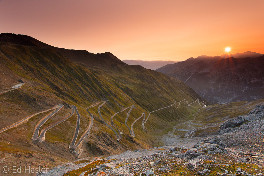 Stelvio Pass at dawn