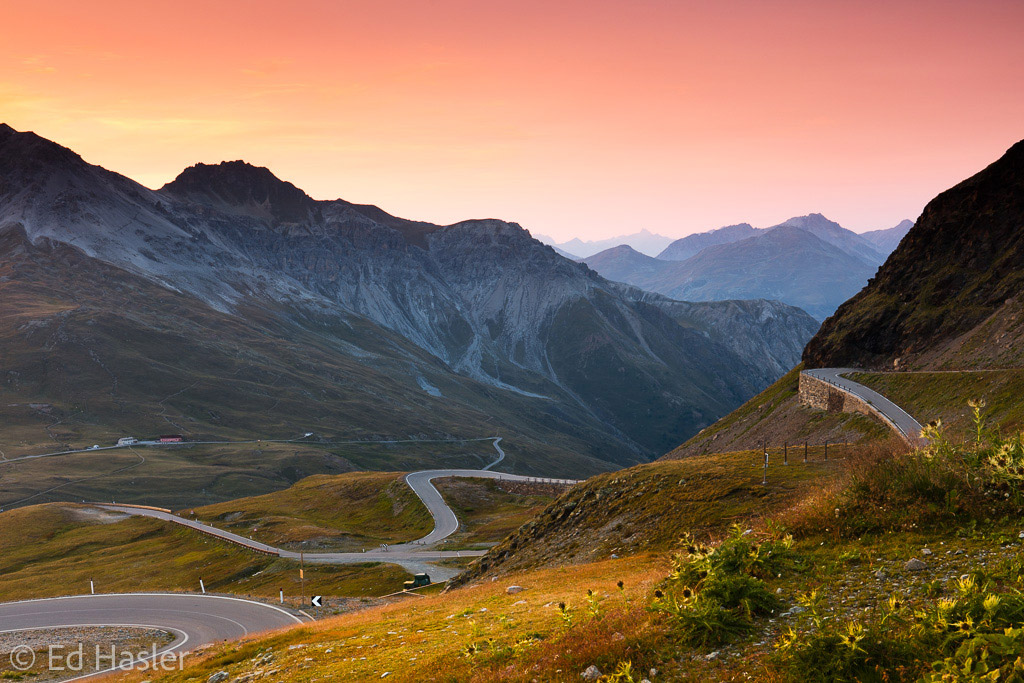 Sunset at the top of the Stelvio Pass