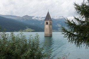 Submerged Church Tower at Curon Venosta