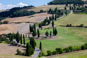 Twisty Tuscan Road at Monticchiello