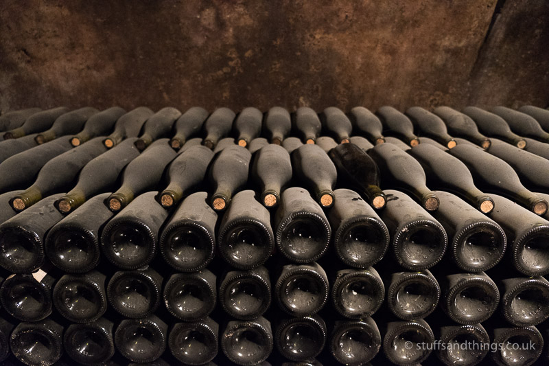 Stacked Bottles of Wine at Bouchard Père et Fils