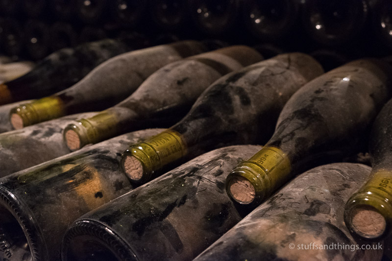 Old Wine Bottles Resting