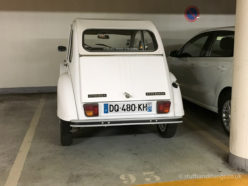 Citroen 2CV in Typical Car Park in Beaune