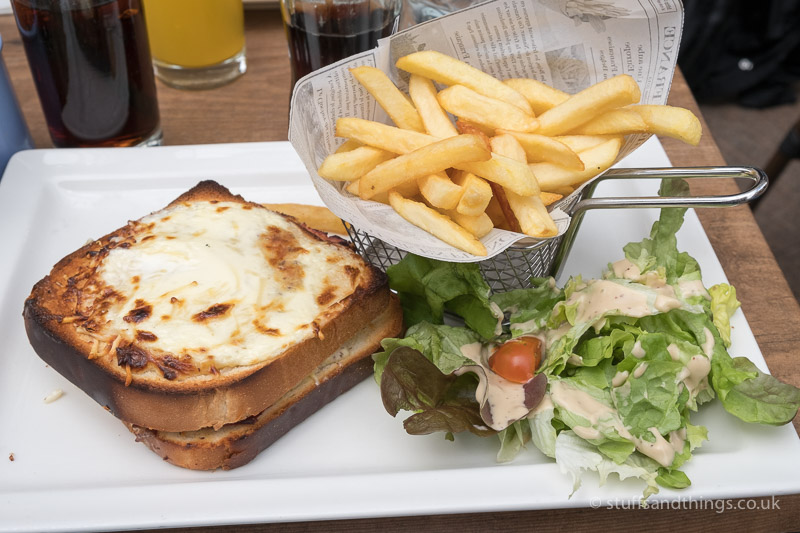 Typical French Lunch - a Croque Monsiuer