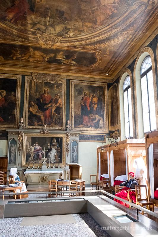 Inside l'Hôtel-Dieu de Beaune