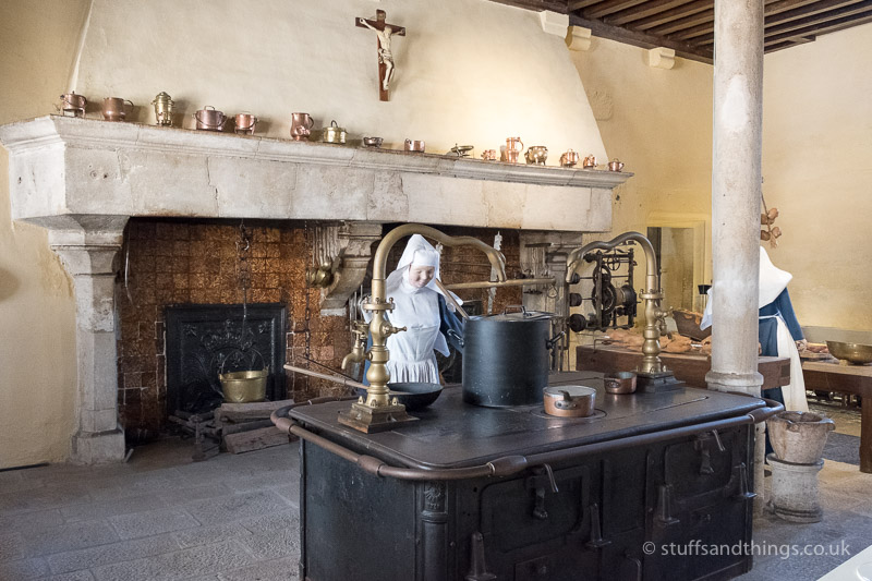 Kitchen in l'Hôtel-Dieu de Beaune