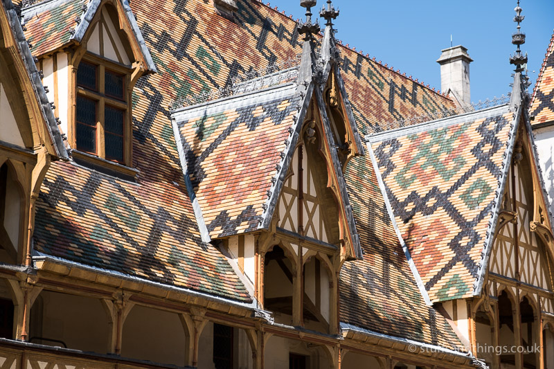 The Colourful Tiled Roof at l'Hôtel-Dieu de Beaune