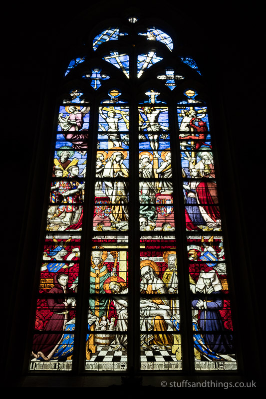 A Stained Glass Window at l'Hôtel-Dieu de Beaune