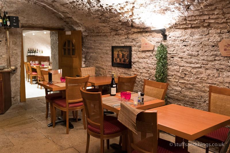 Inside Restaurant Le Conty